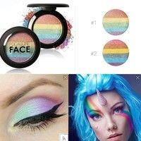 Wish | Beauty Baked Makeup Eyeshadow Palette Rainbow Highlighter Blusher Shimmer