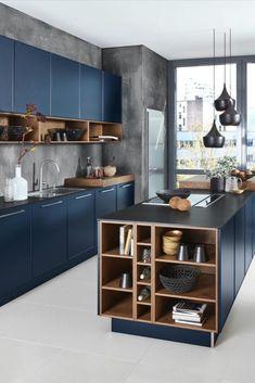 Kitchen Cupboard Designs, Kitchen Room Design, Modern Kitchen Cabinets, Modern Kitchen Design, Kitchen Layout, Home Decor Kitchen, Interior Design Kitchen, Home Kitchens, Modern Kitchens