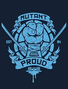 Mutant & Proud Leo T-Shirt $12 TMNT tee at Once Upon a Tee!