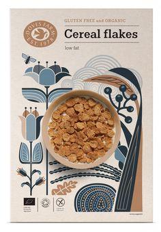 'Doves Farm cereal packaging design, Studio h. London' by Studio h, London - Packaging Design from United Kingdom