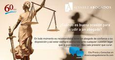 Cuándo es buena ocasión para acudir a un abogado. http://alvarezabogadostenerife.com/?p=8539