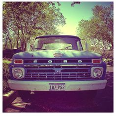 I Love old Ford trucks.