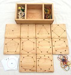 Wooden Geometry Cards - Homeschool Math Toy - From Jennifer - Mathe Ideen 2020 Awesome Woodworking Ideas, Woodworking For Kids, Woodworking Furniture, Woodworking Shop, Woodworking Crafts, Woodworking Plans, Woodworking Jigsaw, Woodworking Classes, Highland Woodworking