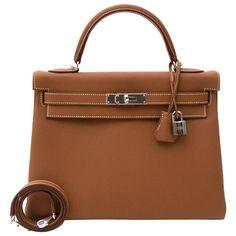 1b9cc74e2 Hermès 32 Togo Gold Phw Kelly Bag Shoulder Bag, Brown. Bag KellySacos Hermes Couro DouradoHermes KellyBolsas ...