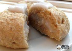 Homemade schrovetide roll - 'fastelavsboller' - with cream.