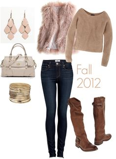 """Fall 2012: Fur Vests/Coats"" by crazykidcandace on Polyvore"