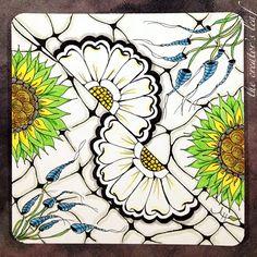 The Garden  by Alice Hedon, Certified Zentangle Teacher www.thecreatorsleaf.com