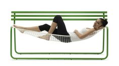 Siesta by Emanuele Magini for Campeggi- park bench hammock!