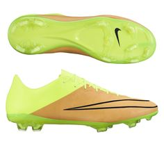 cea7aac67b9a Nike Mercurial Vapor X Tech Craft (Leather) FG Cleats (Canvas Volt)