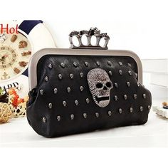 Four Fingers Fist Skull Black Purse   Price   27.80   FREE Shipping    7c59478419e