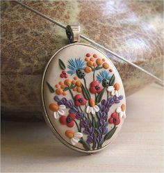Flower Necklace- Flower Jewelry- Gift Ideas for Mom- Boho Jewelry- Romantic wife Jewelry- Gift for Mom- Gift from Son- Gift from Daughter FEDEX priority shipping takes: 2-3 WORKDAYS !!! !!! !!! ( USA ). This is a vintage style, boho chic handmade, polymer clay pendant with