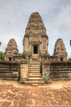Towers at Eastern Mebon, Temples of Angkor, Cambodia