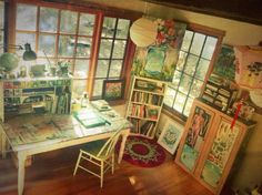 Artistic retreat for her. Bohemian influence.