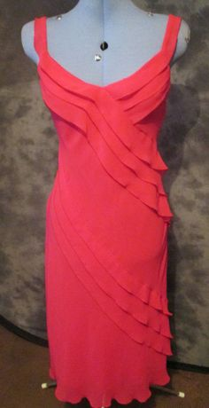 Marks+Spencers,ladies,size 10,pink,no pattern,calf length,formal, dress.