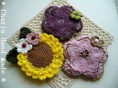 他の写真2: * Charin Hand made *ひまわりとお花のコサージュ