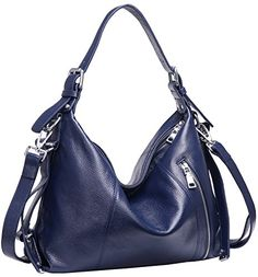Heshe Vintage Womens Leather Shoulder Handbags Totes Top Handle Bags Cross Body Bag Satchel Handbag Ladies Purses Navy BlueR ** Check this awesome product by going to the link at the image. (This is an affiliate link) Satchel Handbags, Purses And Handbags, Leather Handbags, Hobo Purses, Crossbody Bags For Travel, Thing 1, Satchel Purse, Tote Bag, Hobo Bags