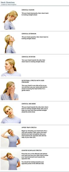 Stretches to relive a headache or migraine. Stretches to relive a headache or migraine. The post Stretches to relive a headache or migraine. appeared first on Guadalupe Pratt. Neck Pain Relief, Migraine Relief, Migraine Diet, Neck And Shoulder Pain, Neck And Back Pain, Fitness Workouts, Arm Workouts, Fitness Weightloss, Pilates
