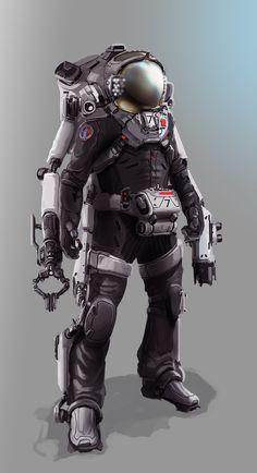 Futuristic design and scifi art. Cyberpunk, Armor Concept, Concept Art, Astronaut Suit, Space Opera, Art Du Monde, Sci Fi Armor, Steampunk, Suit Of Armor