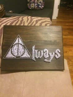 My Harry Potter inspired string art!