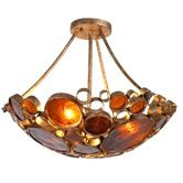Found it at Wayfair - Recycled Fascination 3 Light Semi Flush Mount Ceiling Light