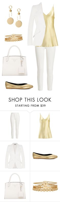 """White and Gold(for OC: Olivia)"" by abby-aster ❤ liked on Polyvore featuring Joseph, Alexander McQueen, Rebecca Minkoff and Treasure & Bond"