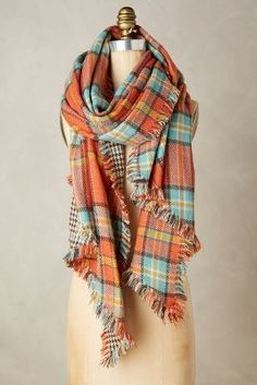 Anthropologie Quartier Plaid Scarf