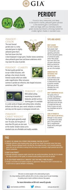 I wish it wasn't my birthstone but hey, ho... Peridot Buying Guide. GIA (080114)
