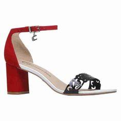 Shoes / calçados Sandália de tiras Sandália feminina diva rubi/preto/branco - Carmim Store