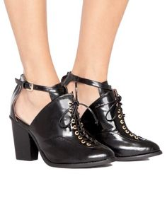 Amata Cut Out Boots - Jeffrey Campbell Shoes - High Heels