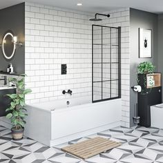 Bathroom decor for your master bathroom renovation. Learn master bathroom organization, bathroom decor a few ideas, master bathroom tile ideas, bathroom paint colors, and much more. Bath Shower Screens, Shower Over Bath, Shower Rooms, Shower Bath Combo, Bathroom With Shower And Bath, Bathroom Layout, Bathroom Interior, Bathroom Ideas, Bathroom Organization