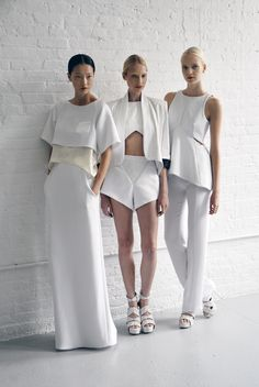 its ALL WHITE for summer and winter. Gotta love clean lines and beautiful fabrics.