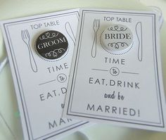 Are you interested in our Personalised Place cards with Badge? With our Wedding Place Cards table setting you need look no further. Wedding Places, Wedding Place Cards, Our Wedding, Card Table Set, A Table, Birthday Bar, Wedding Badges, Personalised Badges, Wedding Reception Tables