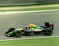 Éric Bernard (FRA) (Equipe Larousse), Lola LC89 - Lamborghini 3512 3.5 V12 (RET)  1989 British Grand Prix, Silverstone Circuit