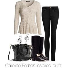 """Caroline Forbes inspired outfit/ The Vampire Diaries"" by tvdsarahmichele on Polyvore by Raelynn8"