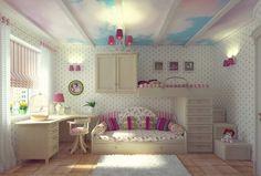 girls bedroom painting ideas   Teenage Girls Bedroom Painting Idea With Wallpaper