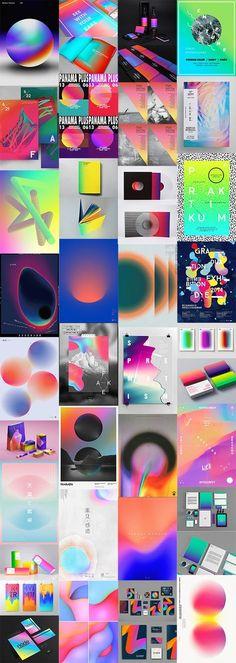 Palette de couleurs très intéressantes avec les dégradés