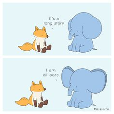 Listening Is Precious (In Collaboration With American Foundation For Suicide Prevention) My Animal Comics Inspire People To Love And Care For Themselves Inspirer Les Gens, Culture Art, Listening Ears, Long Stories, Illustrations, My Animal, Make You Smile, Winnie The Pooh, Disney Characters