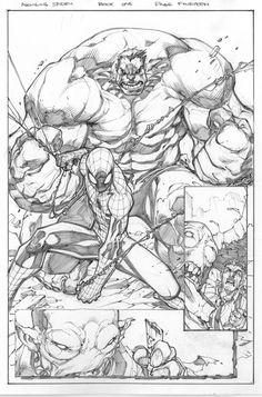 Spider-Man and The Hulk by Joe Madureira