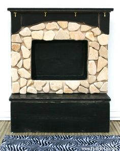 Doll fireplace made out of repurposed items- SERIOUSLY LOVE THIS- on the list of what to make!