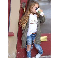 Pin by Rinaya Ross on Kids dress Cute Little Girls Outfits, Little Kid Fashion, Girls Fall Outfits, Cute Kids Fashion, Baby Girl Fashion, Toddler Fashion, Child Fashion, Baby Outfits, Toddler Girl Style