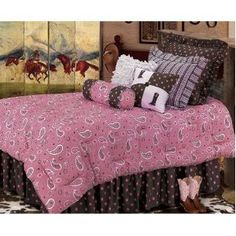 78 Best Pink and Brown Bedding images   Brown bed, Bedding ...