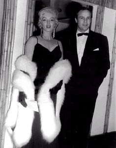 Marilyn Monroe and Marlon Brando by  Unknown Artist