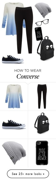 """""""Casual Everyday Outfit"""" by cutelittlekittyinthecity on Polyvore featuring Joie, JunaRose, The North Face, Converse and Casetify"""
