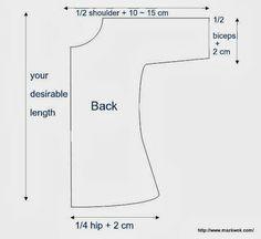 Free sewing pattern: V-neck kimono sleeve top