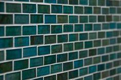 Turquoise and green glass tile - backsplash?