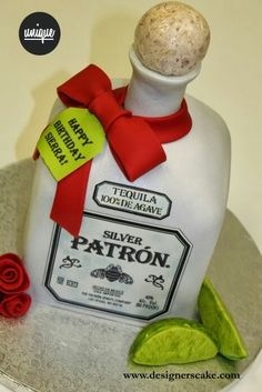 Or. My new favorite cake idea - Patrón tequila cake