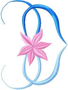 Free Flower Heart machine embroidery design