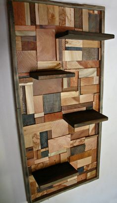 Hardwood Hearts & Grains Wall Shelves by dharmadesigned on Etsy, $295.00