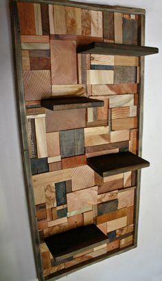 Hardwood Hearts & Grains Wall Shelves via Etsy