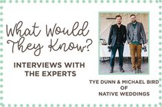 Polkadot Bride interviews the lads about our beautiful films and changing the wedding videography game. -Native weddings